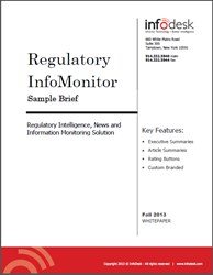 Regulatory InfoMonitor Sample Brief