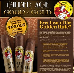 cigars, la gloria, la gloria cubana, gilded age, $100,000 giveaway, contest, la gloria cubana gilded age