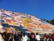 Shoton Festival is the most popular Tibetan festival among tourists. A huge piece of thangka is exhibited at Drepung Monastery in Lhasa on the festival.