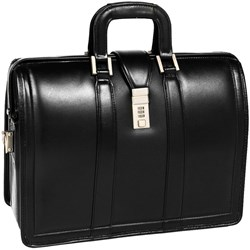 "Mcklein Usa Morgan V Series 17"" Leather Laptop Litigator Briefcase"