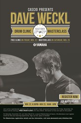 "Dave Weckl Drum Clinic November 22nd plus One-Day ""Drumming Intensive"" November 23rd at Cascio Interstate Music SuperStore"