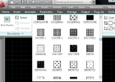 CAD Hatch Pattern Library for AutoCAD 2014 Contains 365 Shapes