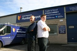 Chris and Aaron at the new Plumbing Depot trade counter in Lancaster