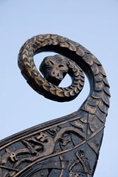 Prow of a Viking ship.