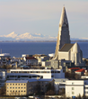 View over Reykjavik with Hallgrimmur's Church.