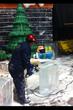 Chinese master ice artisans at work.