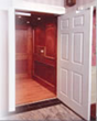 residential elevator installed in a home