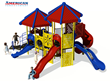 Playground Equipment 3D Rendering