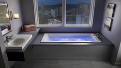 Jacuzzi Baths proudly announces the new ELARA® 7236 in both soaking and air bath configurations