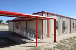 relocatable modular classroom building wing addition
