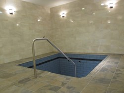 The mikvah room at Malden's Mikvah Mayanei Tova.