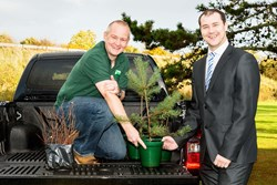Billy Bodles, Mountain Woodland Project Manager and Craig Walker, Sales Manager, Macrae & Dick Toyota