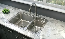 Available At Loweu0027s, Moen Introduces The Gibson™ Stainless Steel Sink  Featuring The Innovative, Easy Clean™ Drain
