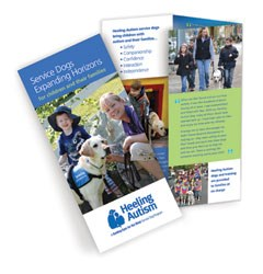 Guiding Eyes for the Blind Heeling Autism brochure