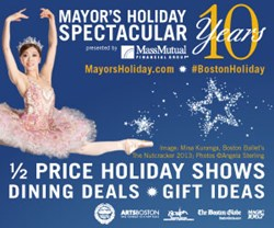 Mayors Holiday Spectacular, discount, tickets, boston, festivities, Artsboston, Menino, Boston Mayor