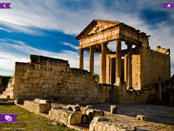 The impressive Roman temple at Dougga in Tunisia