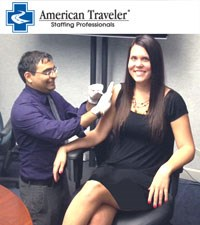 Flu shot clinit at American Traveler Staffing