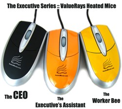 ValueRays® Executive Series Heated Mouse, Warm Mouse, Heated Computer Mice