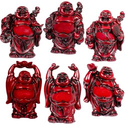 Figurines Buddha Redstone (Set of 6)
