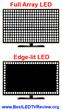 Full array vs Edge-lit LED Backlighting Illustration