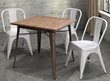 Zuo Modern Titus Dining Table Rustic Wood 109124