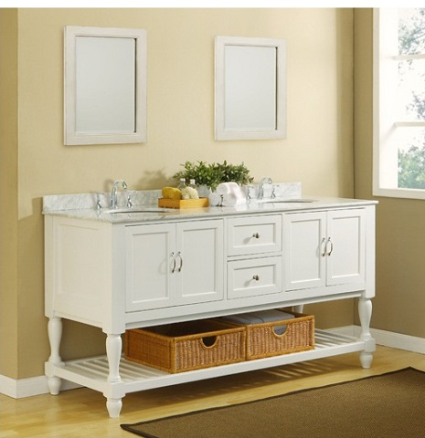 Has introduced a guide to open shelf - Bathroom vanity with shelf on bottom ...