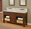 "Direct Vanity 70D1-EsWc-WM 70"" Espresso Xtraordinary Spa Premium double vanity sink cabinet with Carrera white marble"