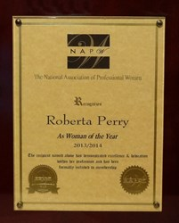 NAPW Woman of the Year 2013-2014 award