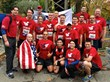 Team Red, White & Blue runners after finishing NYRR's Dash to the Finish Line 5K