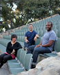 We are Art of Craft. Left to Right: Tu Pham, Derek Galkin and Sal Masekela. Santa Barbara Bowl, CA.
