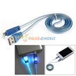 USB Male to Lightning Male Charging & Data Sync Cable with Smile Emoji LED Lights for iPhone 5/5S/5C (100cm)