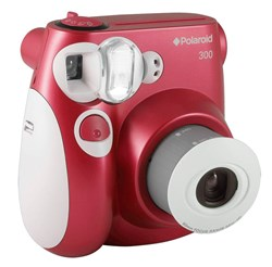 Red Polaroid Pic300 Instant Camera Back in Time for the Holidays!