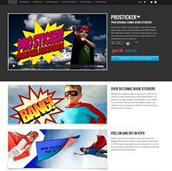 Final Cut Pro X FCPX Pixel Film Studios PROSTICKER Plugin Effects Titles Text