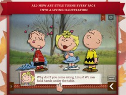 A Charlie Brown Thanksgiving App Screenshot - Loud Crow Interactive