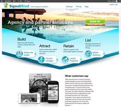 SignalMind website formerly piJnz mobile marketing CMS software