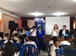 Students being trained by Dr. Tagliaferro and Mr. Jose de Carpio to deliver the Narconon Drug Education program to their schools peers