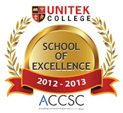 Unitek College 2012-2013 ACCSC School of Excellence