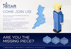 Star Refrigeration are looking for refrigeration, design and site engineers to join their team for a busy 2014