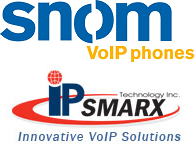 snom and IPsmarx logo