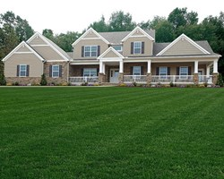 Craftsman style custom home floor plan