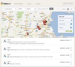 Salespod Field Activity manager