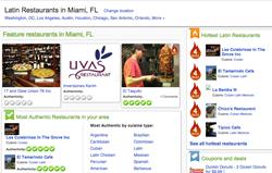 YaSabe Latin Restaurant Page -Miami, FL