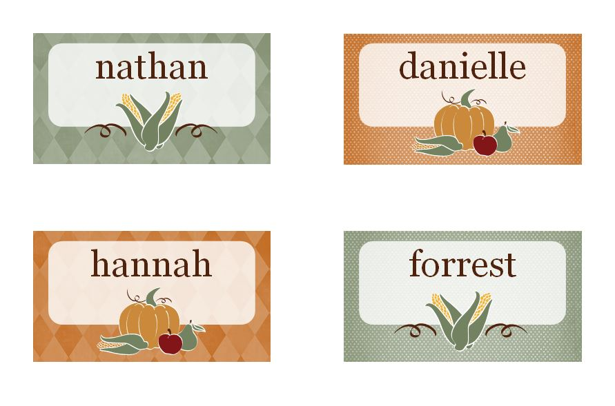 Printable thanksgiving place cards released as part of new line of printable thanksgiving place cards released as part of new line of complimentary holiday templates pronofoot35fo Choice Image