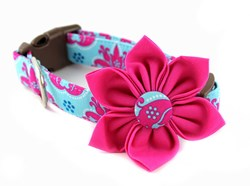 Princess Damask Dog Collar Flower by Bow Wow Couture