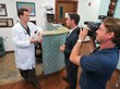 "Dr. Alan Bauman films an interview with ABC-25 on his pioneering work in ""Vampire PRP"" treatment"