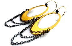 """Nadia"" Triple Chain Oval Earrings by Christi Schimpke of Minabea Jewelry"