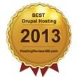Best Drupal Hosting Award 2013 Named by HostingReview360.com