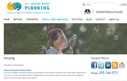 special needs planning, special needs housing