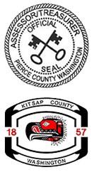 Pierce County, WA and Kitsap County, WA Seals