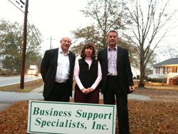 Marlene Spurgin, Hugh Johnson and Derek Stewart at Business Support Specialists